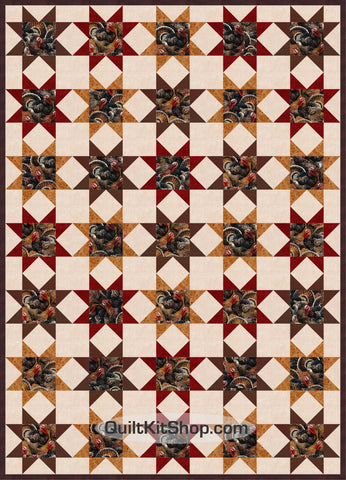 Turkey Autumn Star PreCut Quilt Kit