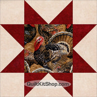 Turkey Autumn Star Pre-Cut Quilt Kit