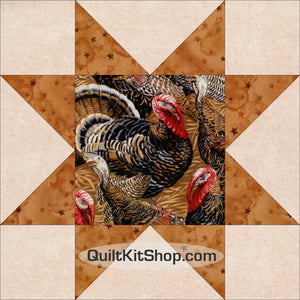 Turkey Autumn Pre-Cut Quilt Kit