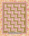 Pink Twinkle Flower 38x47 PreCut Quilt Kit