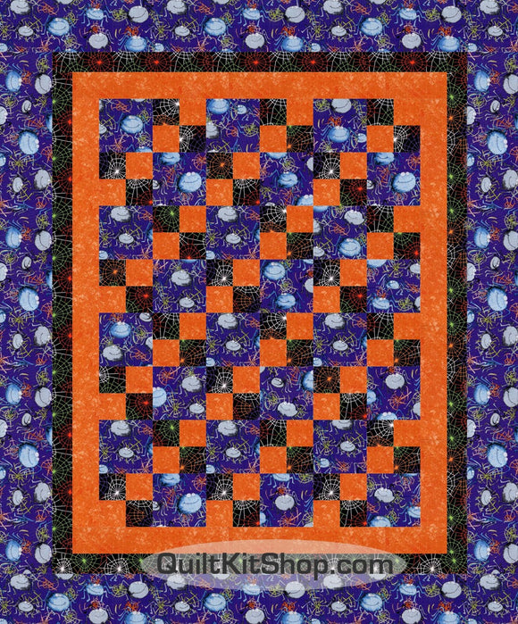 Smiling Vampire Spiders PreCut Quilt Kit