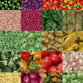 "Farmers Market Vegetables Charm Pack 5"" Squares"
