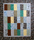 Vertical Brick Quilt Top Modern Unfinished