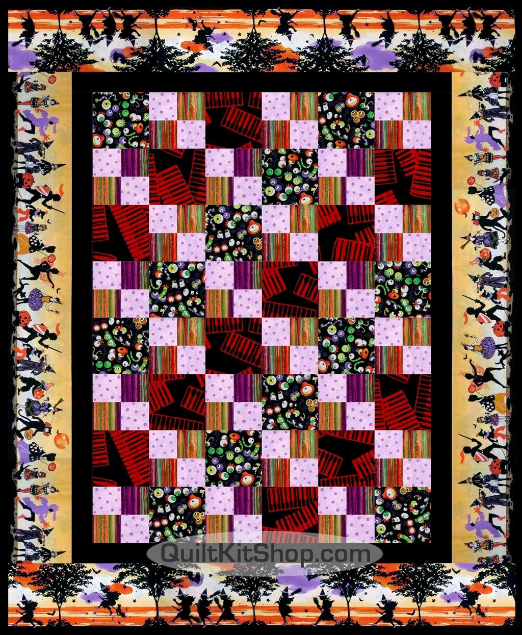 Wild Thing Eyes Double 4 Patch PreCut Wall Quilt Kit