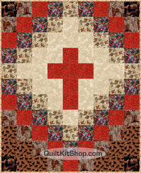 Cross Western Horse Throw Quilt Kit