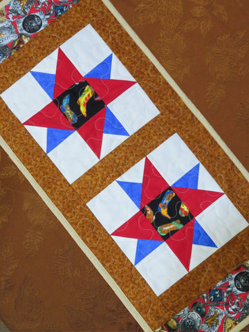 Boots Western Quilted Table Runner