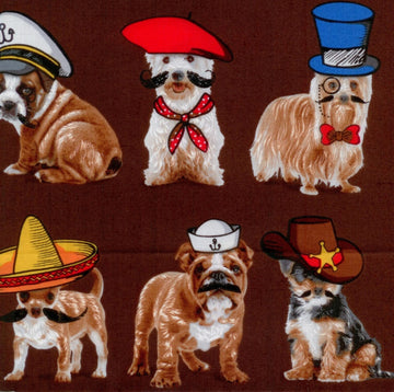 Who's Your Doggie Dog Hats Brown Benartex