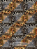 Wild Safari Animals PreCut 12 Block Quilt Kit