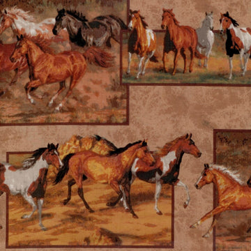 Running Horses Collage 2001