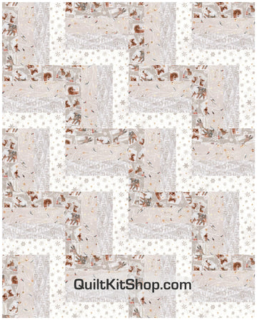 Woodland Winter Pre-Cut 20 Block Quilt Kit