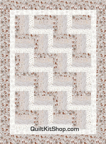 Woodland Winter Rail Fence PreCut Quilt Kit