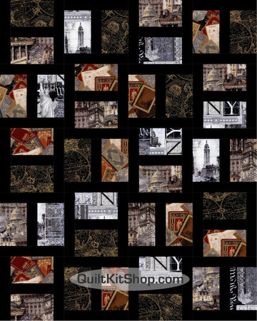World Traveler PreCut 20 Block Quilt Kit