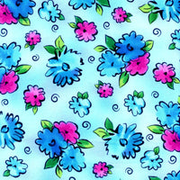 Xanadu Blue Abstract Floral Quilting Treasures