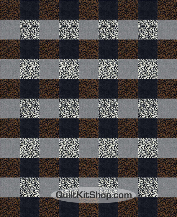 Zebra Plaid PreCut Quilt Pack Kit
