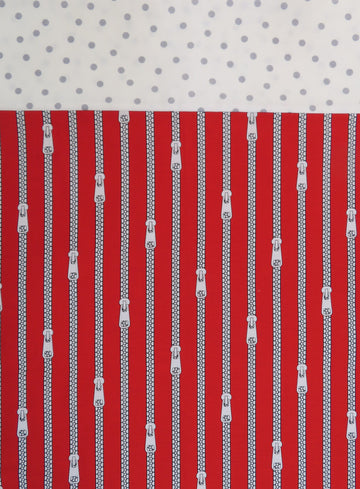 Handmade Pillowcase Red Zipper