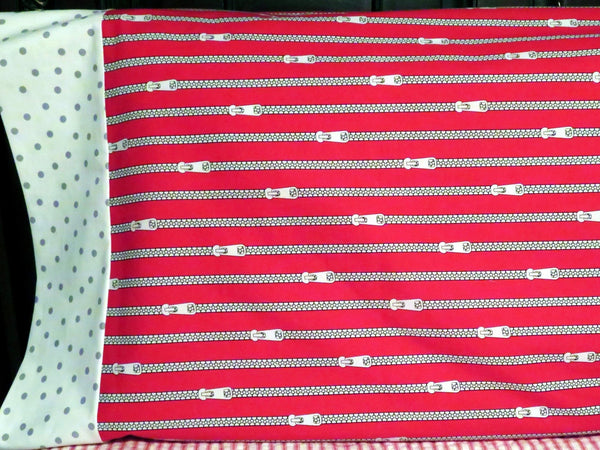 Red Zipper Pillowcase Pillow Cover