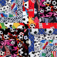 "Soccer Sports Layer Cake 10"" Squares"