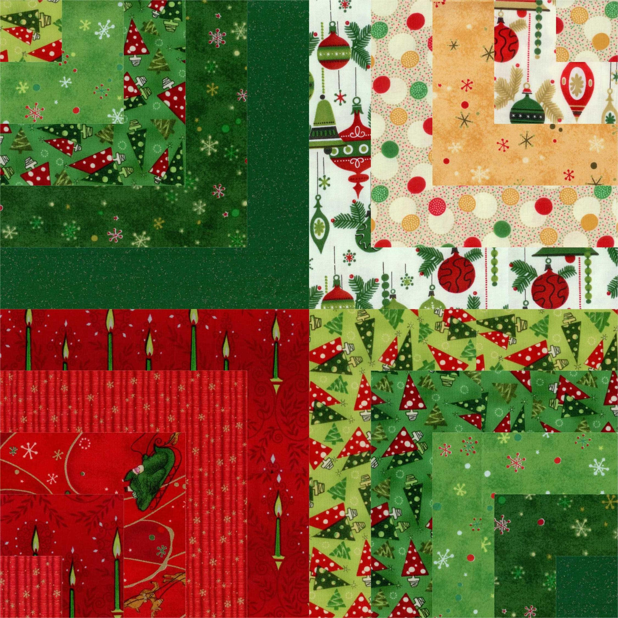 "Vintage Christmas Layer Cake 10"" Squares"
