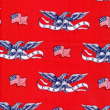American Heroes Eagle Flag Red Windham Fabric