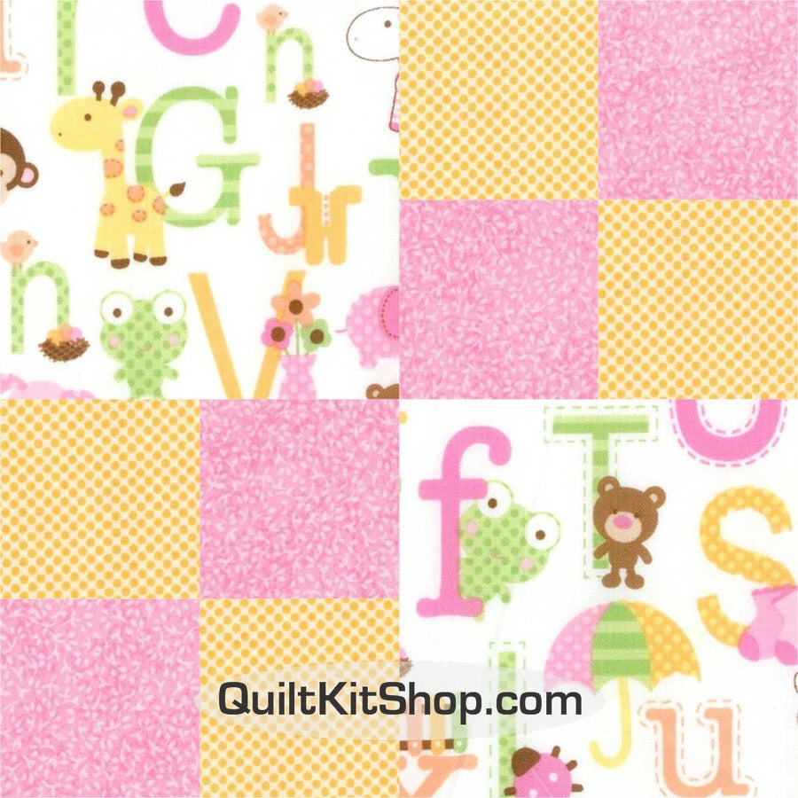 Baby Jungle Animals Pre-Cut Quilt Kit