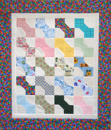 Baby Bow Ties Handmade Unfinished Quilt Top