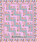 Cats Purrfect Notions Pink PreCut Quilt Kit