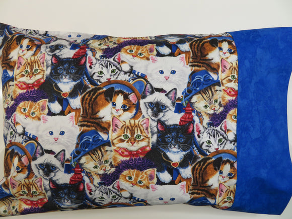 Cats Blue Kittens Travel Toddler Pillow Cover Pillowcase