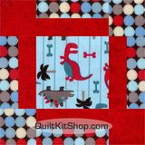 Dino World Blue PreCut GROW Quilt Kit