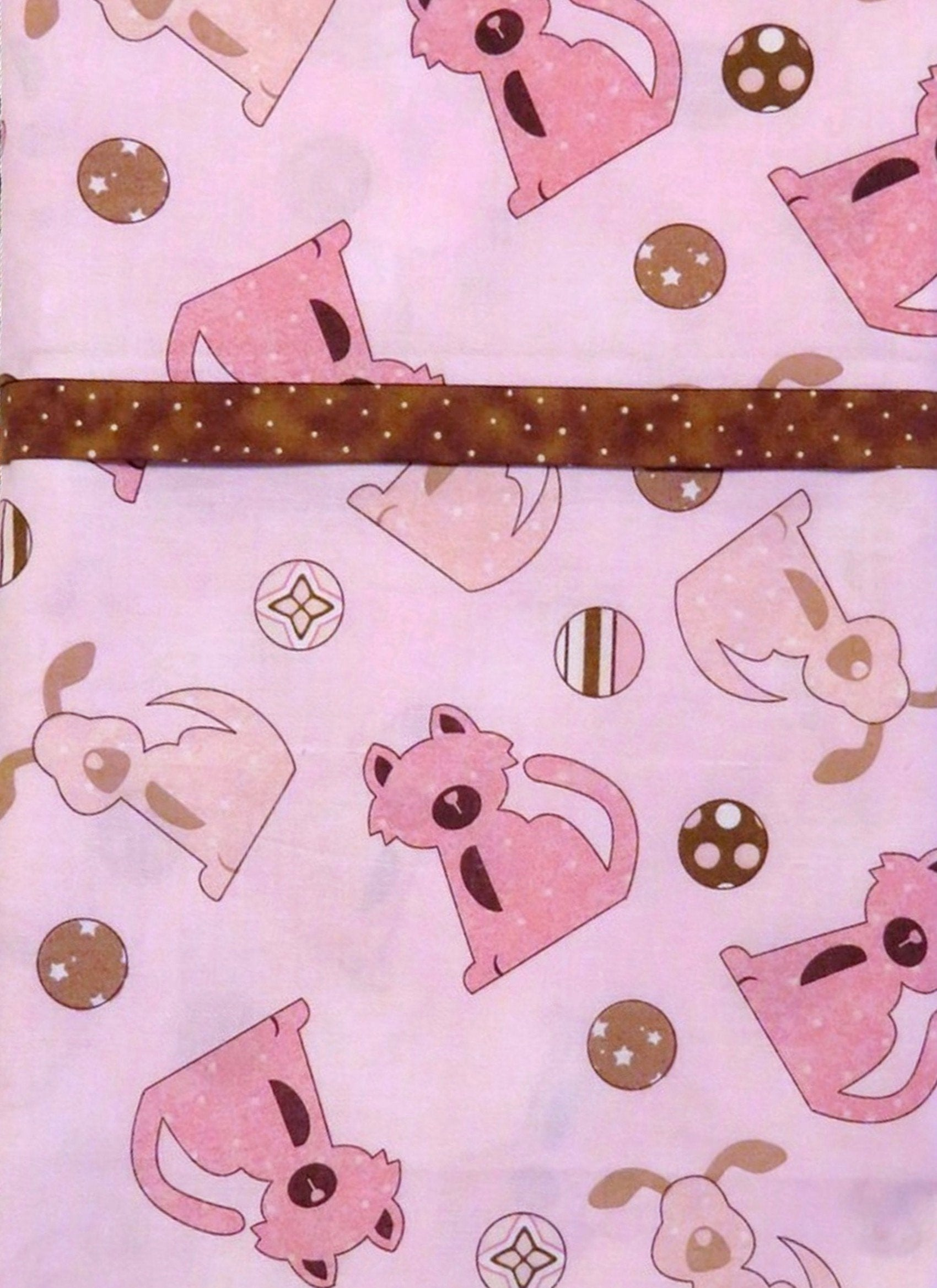 Dogs Pink Brown Pillowcase Pillow Cover