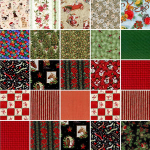 "Greeting Christmas Pre Cut 40 - 10"" Layer Cake Squares"