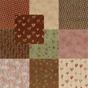 "Heartstrings Pre Cut 40 - 10"" Layer Cake Squares"