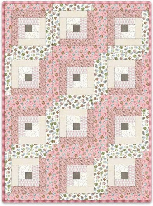 Forest Friends Pre-Cut 12 Block Quilt Kit