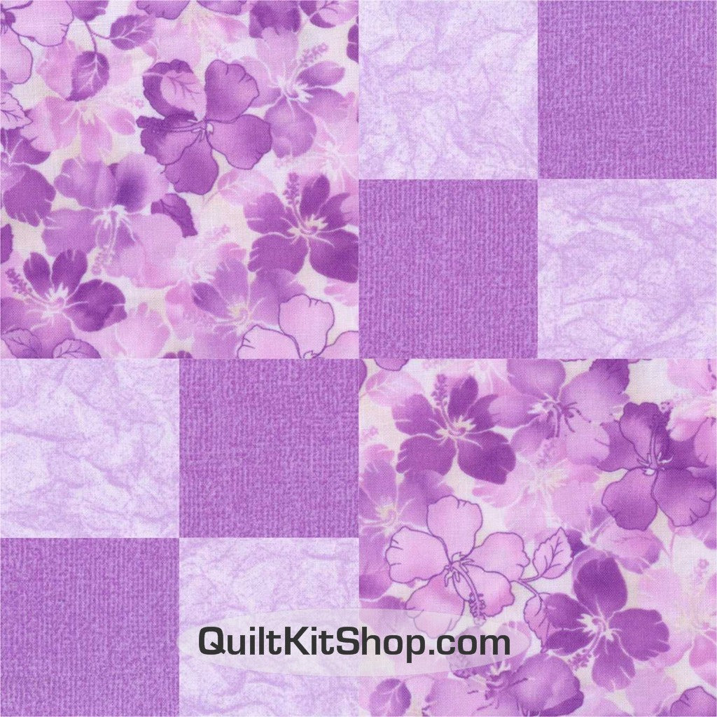 Lilac Luster Double 4 Patch Pre-Cut Grow Quilt Kit