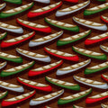 Little Rivers Canoes on Brown Henry Glass Fabric