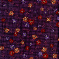 Mementos Floral Plum Red Rooster Fabric