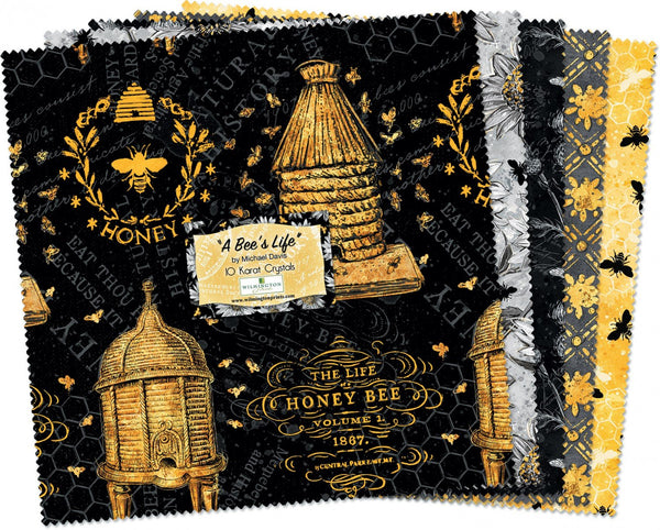 "A Bee's Life 10 Karat Mini Crystals Layer Cake 10"" Squares"