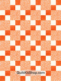 Rocking Horse Orange Pre-Cut 12 Block Quilt Kit