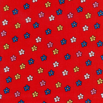 Spot's Favorite Colors Daisies Red Fabric Andover