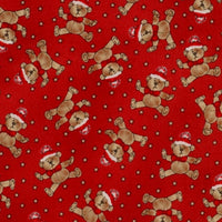 Teddy Bear Christmas Red Windham Fabric