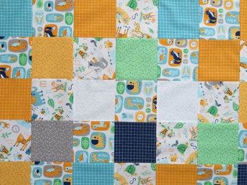 Animal Zoo Gold Quilt Top
