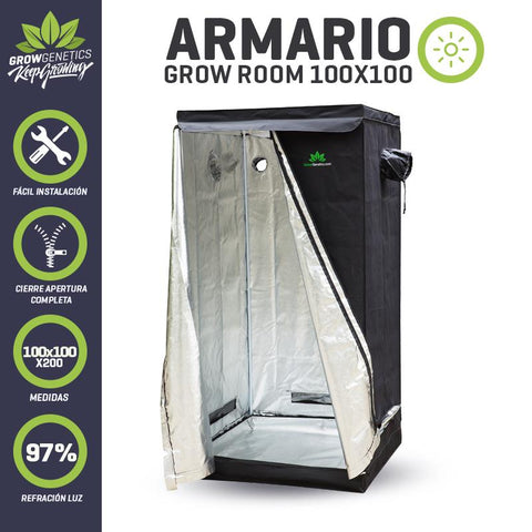Armario Grow Room 100x100x200cm Grow Genetics