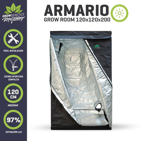 Armario Grow Room 120x120x120 Grow Genetics