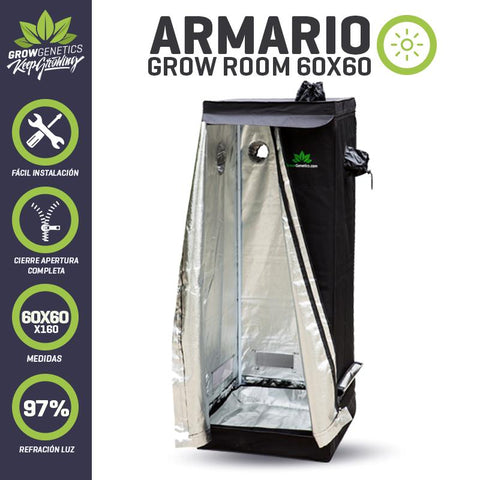 Armario Grow Room 60x60x160cm Grow Genetics