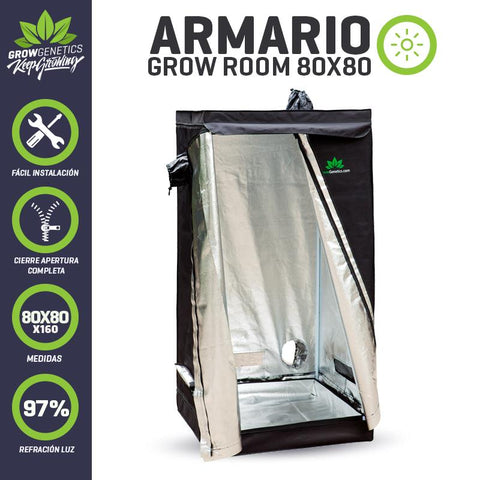 Armario Grow Room 80x80x160cm Grow Genetics
