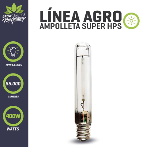 Ampolleta Sodio 600W Extra Lumen - Grow Genetics.