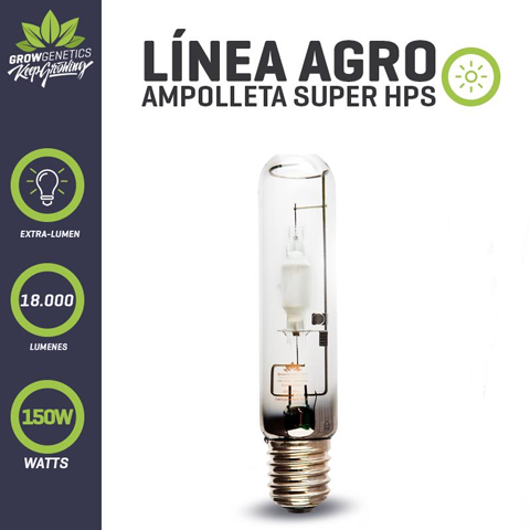 Ampolleta Sodio 250W Extra Lumen - Grow Genetics.