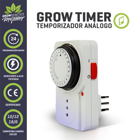 Timer Analogo – Grow Genetics.