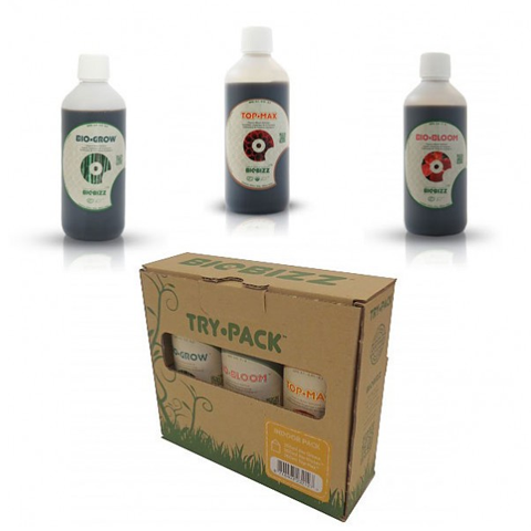 Try Pack Bio Bizz Indoor 250Ml (Crecimieno/Floracion/Engorde)