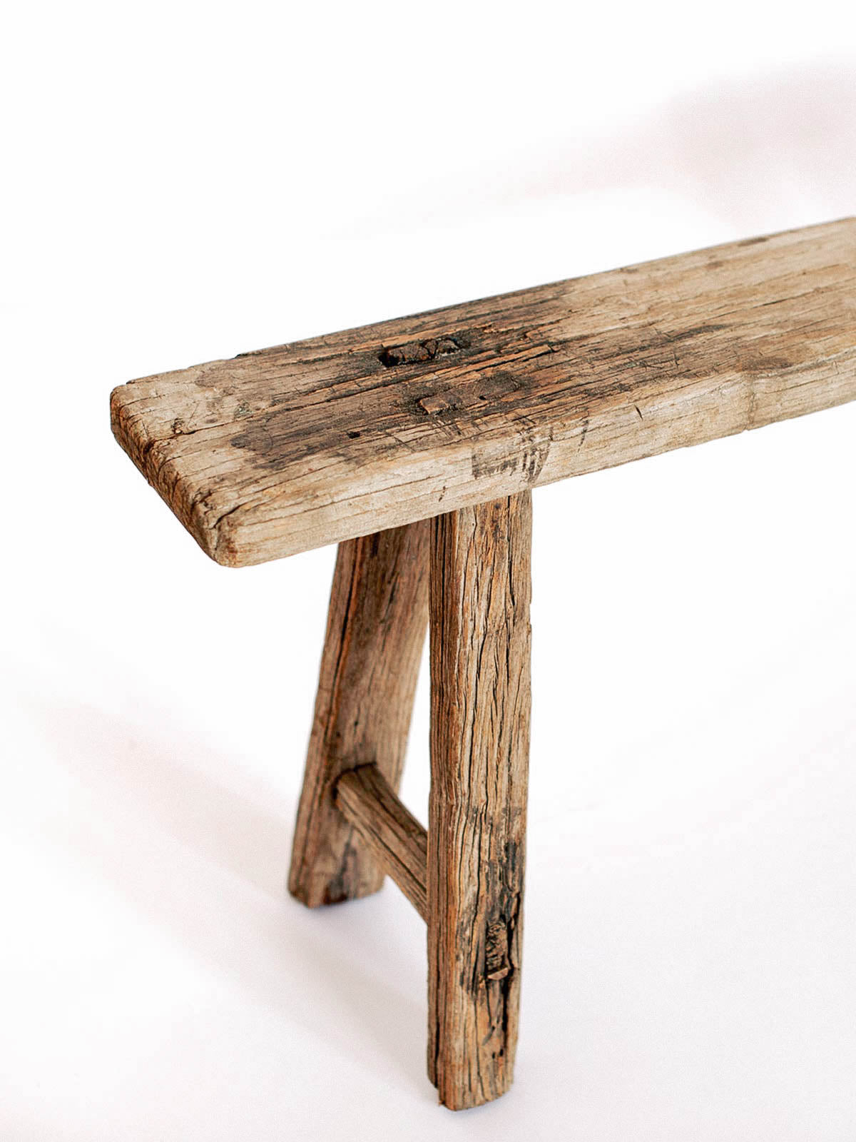 RUSTIC CHINESE ELM WOOD BENCH   Celestial   CELESTIAL   Sourced From  Artists In Europe,