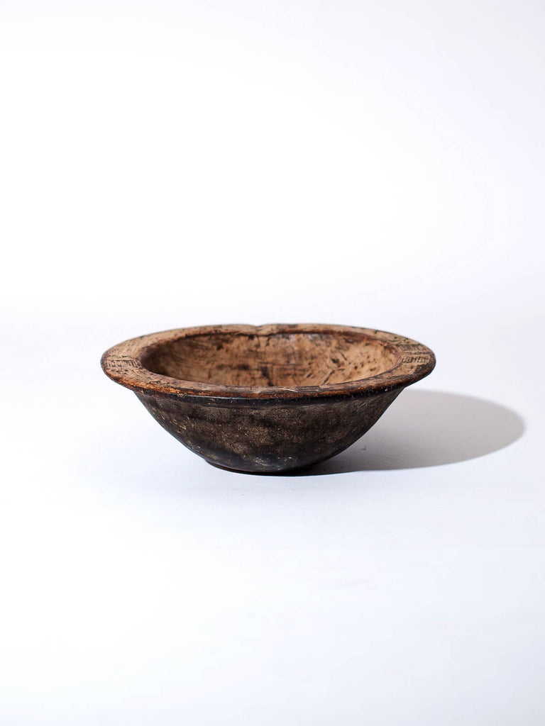 ANTIQUE WEST AFRICAN WOOD BOWL - Celestial - CELESTIAL - Sourced from artists in Europe, Asia and Africa, these limited edition pieces inspire a life of simplicity and style.
